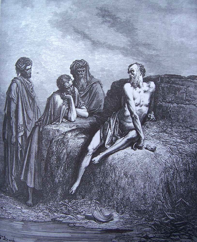 Pent21_dore-bible_job_sur_son_fumier-Vingt-et-unième dimanche après la Pentecôte