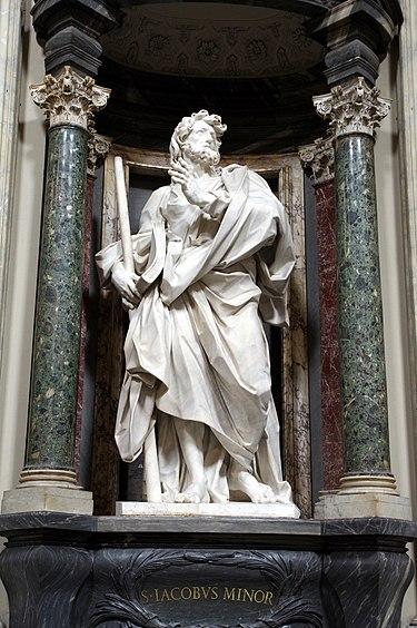 Saint Jacques le Mineur - Statue d'Angelo de Rossi, basilique Saint-Jean-de-Latran, Rome.
