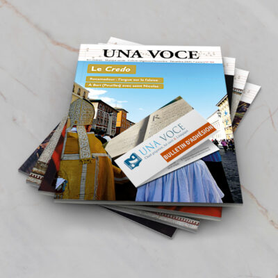 Bulletin d'adhésion et abonnement à Una Voce