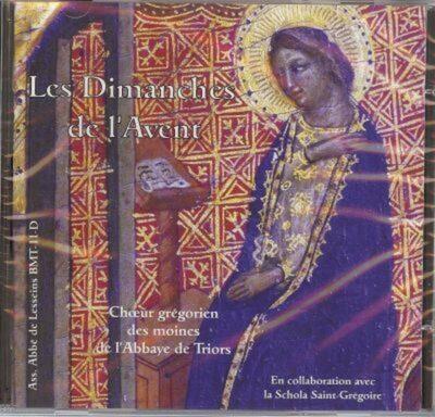 CD - grégorien - Choeur des Moines de l'Abbaye de Triors -Collaboration Schola Saint-Grégoire -- Dimanches de l'Avent
