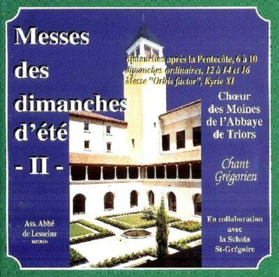 Triors - Eté 2 - Messes du 6 au 9ème Dim. après Pentecôte