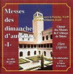 Triors - Automne 1 - Messes des 15 au 19ème Dim. après Pentecôte
