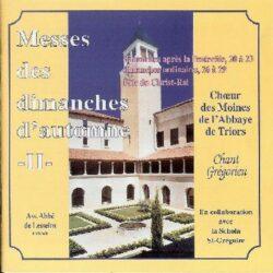Triors - Automne 2 - Messes des 20 au 23ème Dim. après Pentecôte