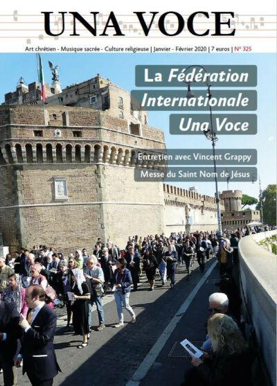 Revue N° 325 - La Fédération Internationale Una Voce